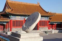 La Cina Pechino Città severa Orologio di Sun Fotografie Stock
