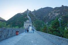 La Cina, Pekin, parete della Cina, tramonto, storia 2016 fotografia stock