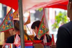 La Cina, religione tradizionale, abitudini, Zhongyuan Purdue, festival di fantasma cinese, sacrifici, fantasmi, sacrifici fotografie stock
