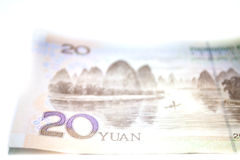 La Cina RMB, YUAN Banknotes Fotografie Stock Libere da Diritti
