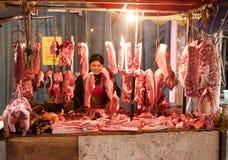 La Cina: Stalla del macellaio Immagine Stock Libera da Diritti
