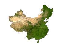 La Cina su priorità bassa bianca Fotografia Stock