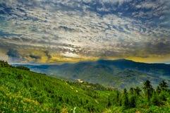 La Cina sudorientale, altopiani dei terrazzi del riso di Yunan Immagine Stock