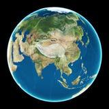 La Cina sulla terra del pianeta Fotografia Stock Libera da Diritti