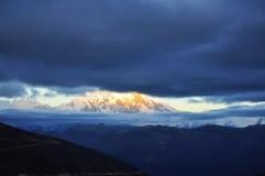 La Cina Tibet Nyingchi Namjagbarwa Immagine Stock
