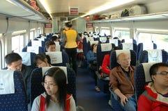 La Cina - treno veloce della parte interna Immagine Stock
