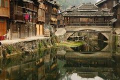 La Cina - villaggio di minoranza Immagine Stock Libera da Diritti