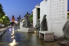 La Cina & x28; xi & x27; un pagoda& x29 dell'oca selvatica; e area scenica della città del datang nella provincia di Shaanxi Fotografie Stock