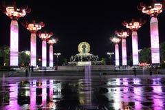 La Cina & x28; xi & x27; un pagoda& x29 dell'oca selvatica; e area scenica della città del datang nella provincia di Shaanxi Fotografia Stock