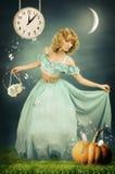 La Cinderella in legno fantastico Fotografia Stock Libera da Diritti