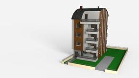 La cinq-histoire de Tonos a couvert le travail architectural, le rendu 3d Photographie stock libre de droits