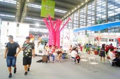 La cinquième exposition d'échange de projet de charité de la Chine Photographie stock libre de droits