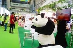 La cinquième exposition d'échange de projet de charité de la Chine Photographie stock