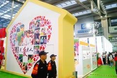 La cinquième exposition d'échange de projet de charité de la Chine Images libres de droits