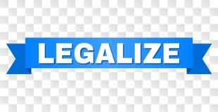 La cinta azul con LEGALIZA el subtítulo libre illustration