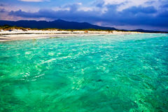 La Cinta beach in Sardinia Stock Photo