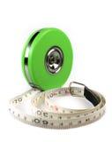 La cinta de la medida aisló Foto de archivo libre de regalías