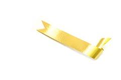La cinta de oro espiral aislada en blanco Foto de archivo libre de regalías