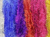 La cinta del arco iris para la Navidad y el Año Nuevo texturizan el backg Fotografía de archivo