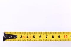 La cinta métrica o la regla fotografía de archivo