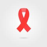 La cinta roja le gusta el concepto de Día Mundial del Sida del 1 de diciembre Imagenes de archivo