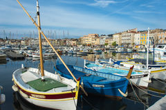 La Ciotat Boats harbour stock images