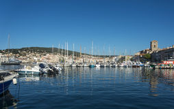 La Ciotat church Boats harbour Stock Photo