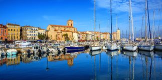 La Ciotat, Old Town and port, Provence, France. Panorama of the Old Town and port of La Ciotat by Marseilles, Provence, France Stock Image