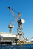 La Ciotat shipyard cranes royalty free stock images