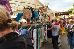 La Ciotat van de straatmarkt Stock Afbeeldingen