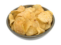 La ciotola di sale e di aceto ha condito le patatine fritte Fotografia Stock