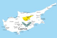 La Cipro royalty illustrazione gratis