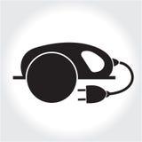 La circolare ha visto la siluetta del nero dell'icona dello strumento Logo dell'elemento, isolato su un fondo bianco Fotografie Stock