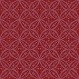 La circulaire abstraite rougeâtre couvre de tuiles le modèle sans couture de vecteur Texture géométrique Répétition du fond illustration stock