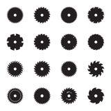 La circulaire scie des icônes de lame Illustration de Vecteur