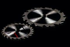 La circulaire scie des lames images stock