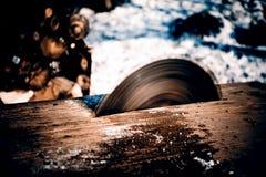La circulaire scie la lame Photo stock