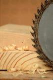 La circulaire a vu et bois Photo stock