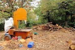 La circulaire a vu pour des identifiez-vous en bois la forêt photos libres de droits