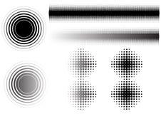 La circular 6 se descolora   ilustración del vector