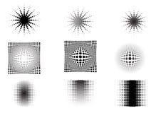 La circular 9 se descolora 6 stock de ilustración