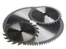 El cortar borde-Circular consideró el disco para el corte de madera. Aún-vida en un fondo blanco Imágenes de archivo libres de regalías