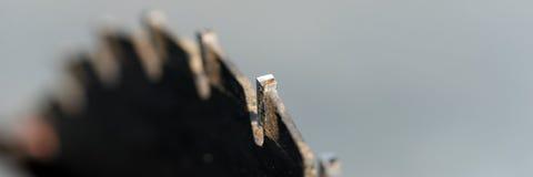 La circular del primer vio, sierra de la tabla crosscut la cuchilla Lámina de sierra imágenes de archivo libres de regalías