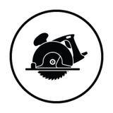 La circular vio el icono ilustración del vector