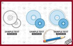 La circular vio la lámina ilustración del vector