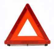 La circulation d'avertissement d'accidents chantent (la triangle rouge) Photo stock