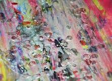 La cire de scintillement de rouge argenté a brouillé le fond d'aquarelle, texture abstraite Images libres de droits