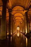 La cisterna de la basílica en Instanbul fotos de archivo libres de regalías