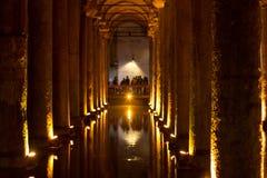 La cisterna della basilica, Turchia, Costantinopoli Fotografie Stock Libere da Diritti
