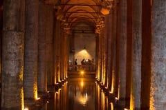 La cisterna 2, Turchia, Costantinopoli della basilica Immagini Stock Libere da Diritti